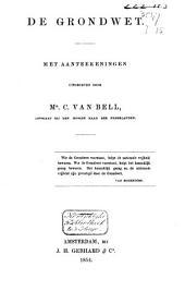 De Grondwet: met aanteekeningen