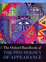 Oxford Handbook of the Psychology of Appearance PDF