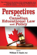 Perspectives on Canadian Educational Law and Policy PDF