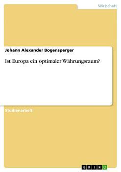 Ist Europa ein optimaler W  hrungsraum  PDF
