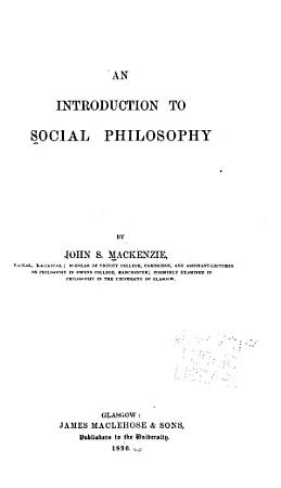 An Introduction to Social Philosophy PDF