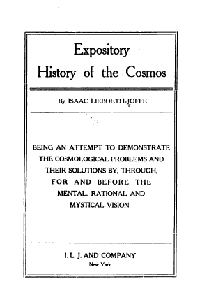 Expository History of the Cosmos