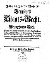 Teutsches Staats-Recht: Band 9