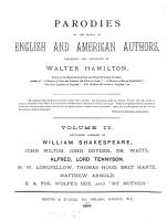 Parodies of the works of English and American authors  collected and annotated by W  Hamilton PDF