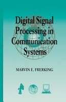 Digital Signal Processing in Communications Systems PDF