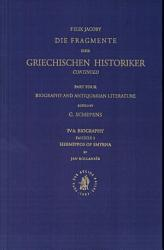Die Fragmente Der Griechischen Historiker  Continued PDF