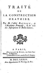 Traité de la construction oratoire
