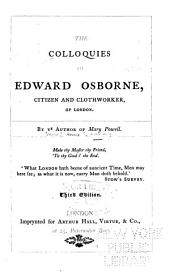 The colloquies of Edward Osborne, citizen and clothworker, of London