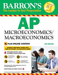 Barron s AP Microeconomics Macroeconomics  6th edition with Bonus Online Tests Book