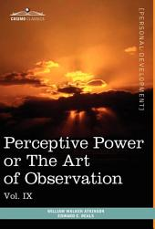 Personal Power Books: Perceptive Power Or the Art of Observation