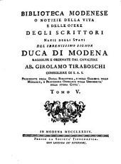 Biblioteca modenese: Volume 5