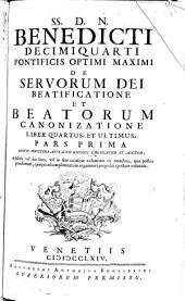 De servorum Dei beatificatione et beatorum canonizatione: Volume 2