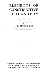 Elements of constructive philosophy