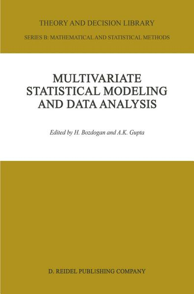 Multivariate Statistical Modeling and Data Analysis