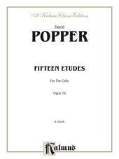 Fifteen Etudes for Cello, Op. 76: Cello Etudes with Second Cello Accompaniment