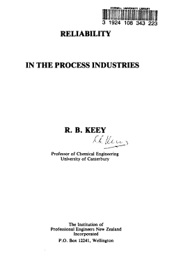 Reliability in the Process Industries PDF