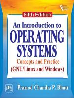 AN INTRODUCTION TO OPERATING SYSTEMS   CONCEPTS AND PRACTICE  GNU LINUX AND WINDOWS   FIFTH EDITION PDF