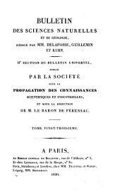 Bulletin des sciences naturelles et de géologie: Volumes23à24