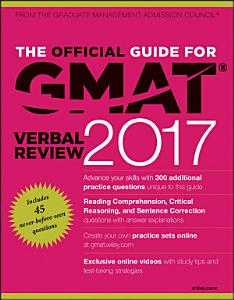 The Official Guide for GMAT Verbal Review 2017 with Online Question Bank and Exclusive Video Book