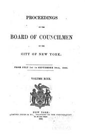 Proceedings of the Board of Councilmen of the City of New York: Volume 99