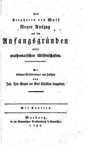 Neuer Auszug aus den Anfangsgründen aller mathematischen Wissenschaften
