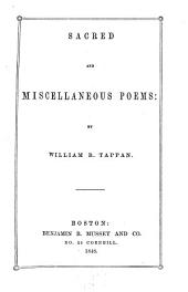 Sacred and Miscellaneous Poems