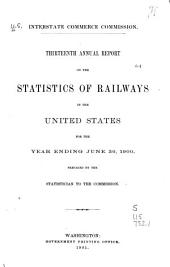 Statistics of Railways in the United States: Volume 13