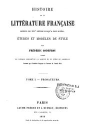 Histoire de la littérature française, depuis le XVIe siècle jusqu'à nos jours