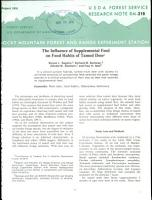 The Influence of Supplemental Feed on Food Habits of Tamed Deer PDF