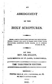 An abridgement of the holy Scriptures