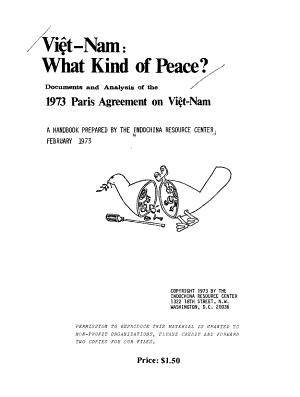 Viêt-Nam: what Kind of Peace?