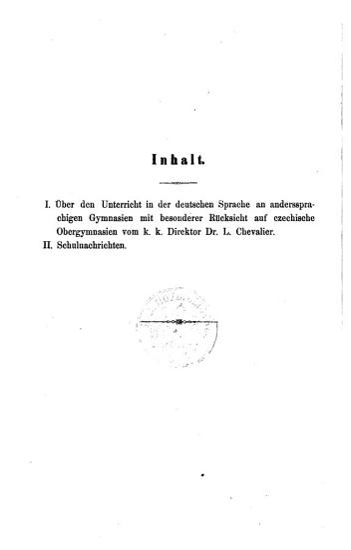 Jahres Bericht des k k  Real Obergymnasiums zu Mies PDF