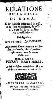 Relatione della corte di Roma: Volume 10