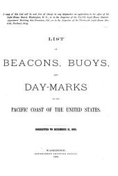 List of Beacons, Buoys, and Day Marks on the Pacific Coast of the U.S.