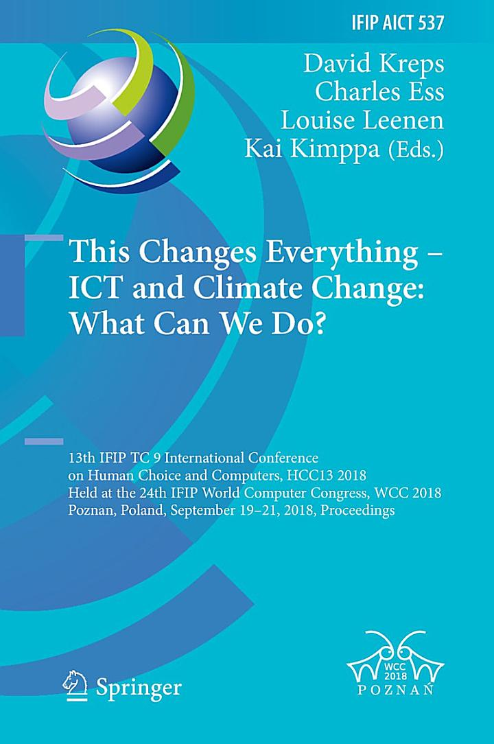 This Changes Everything – ICT and Climate Change: What Can We Do?