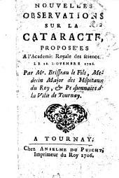 Nouvelles observations sur la cataracte, etc