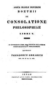 De consolatione philosophiae libri V