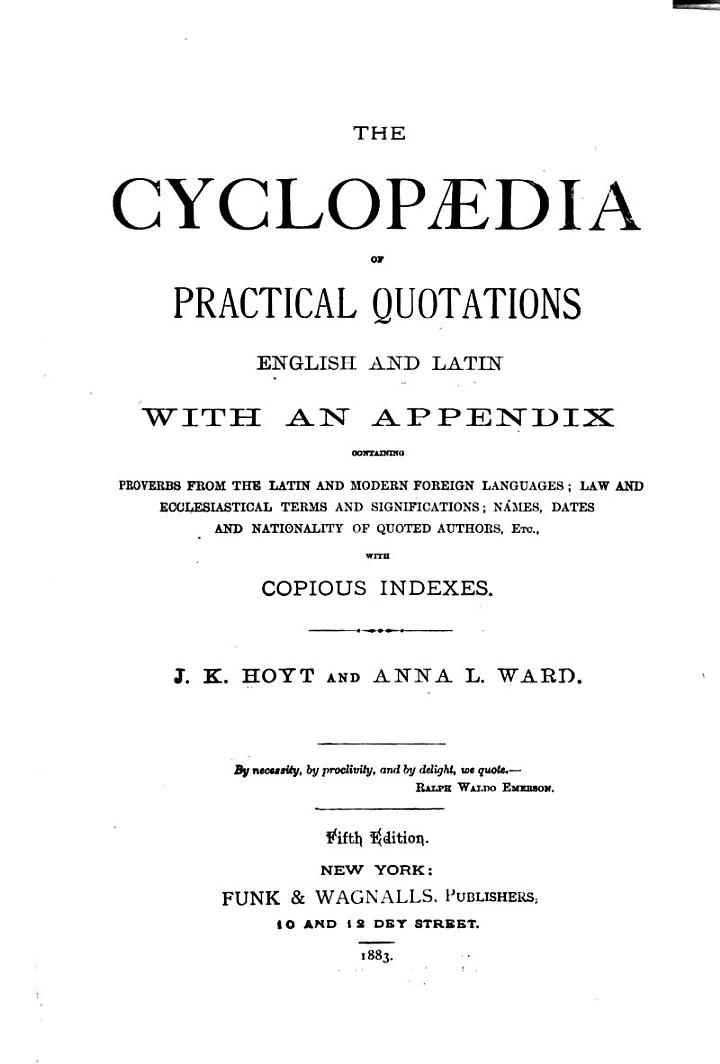 The Cyclopædia of Practical Quotations