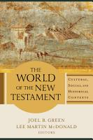 The World of the New Testament PDF