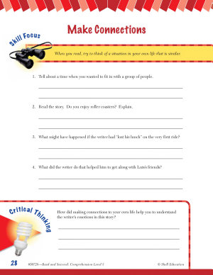 Read   Succeed Comprehension Level 5  Making Connections Passages and Questions