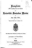 Rangliste der Kaiserlich Deutschen Marine f  r das Jahr     PDF
