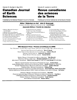 Canadian Journal of Earth Sciences PDF