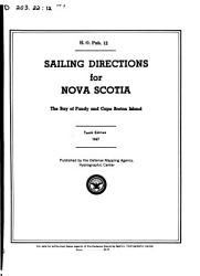Sailing Directions for Nova Scotia  the Bay of Funday and Cape Breton Island PDF