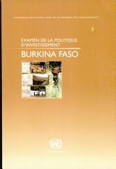 Examen de la politique d'investissement: Burkina Faso