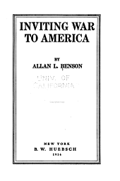 Inviting War to America: Volume 20