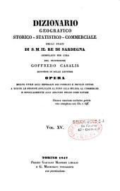 Dizionario geografico, storico, statistico, commerciale degli stati di S.M. il re di Sardegna: Volume 15