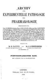 Archiv fuer experimentelle pathologie und pharmakologie: Volume 25