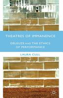 Theatres of Immanence PDF