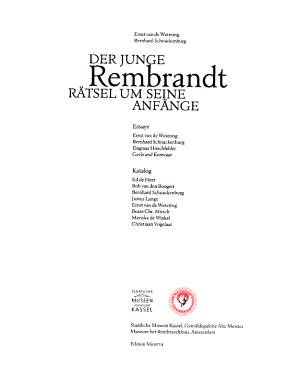 Der junge Rembrandt PDF