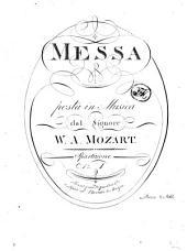MESSA posta in Musica dal Signore W. A. MOZART. Spartizione N.o